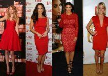 que zapatos usar con un vestido rojo