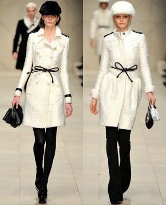 Combinar abrigo blanco con negro