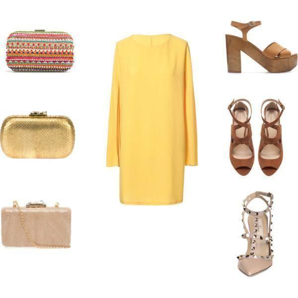 Combina tu vestido amarillo con colores camel