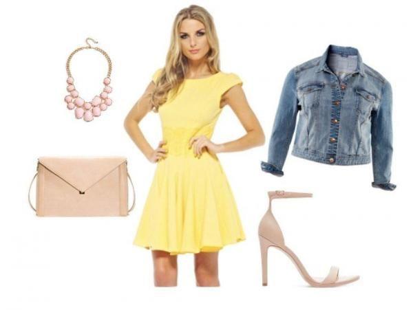 combinar-un-vestido-amarillo-con-mezclilla