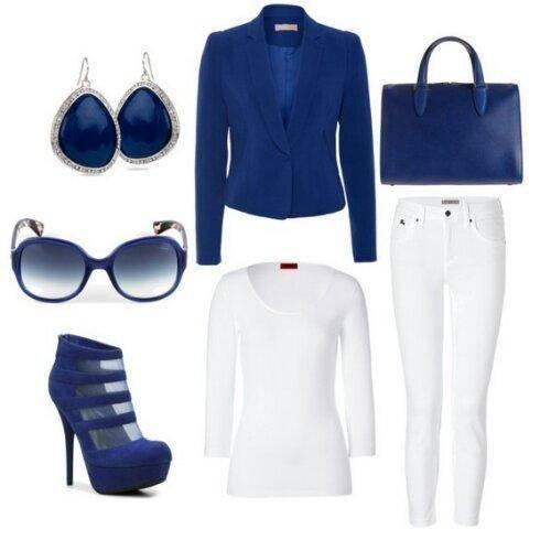 como combinar un blazer azul
