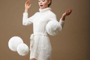 Cómo combinar un vestido blanco en invierno