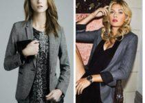 ideas para combinar un blazer gris