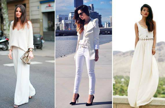 como puedo combinar un pantalon blanco de mujer