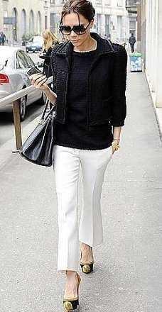 como combinar un pantalon blanco de lino