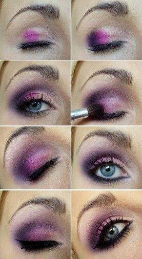 sombra de ojos morada