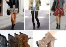 botas tipo militar mujer combinar