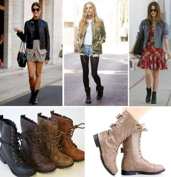 combinar botas militares para mujer