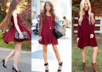 vestidos burdeos largos