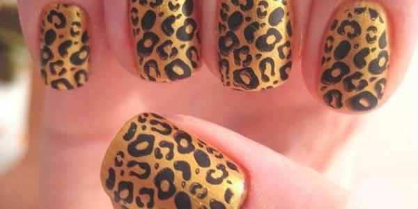 Ddiseño de uñas leopardo