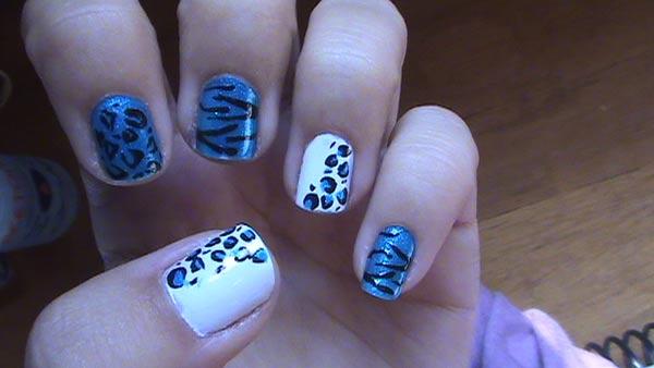 uñas decoradas con animal print