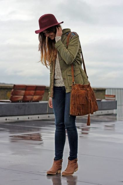 outfit lluvia verano