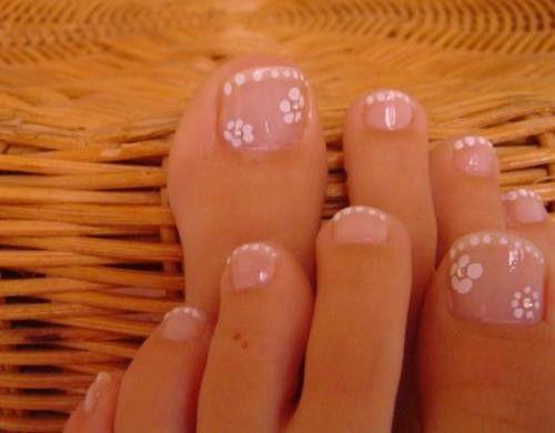 decoracion de uñas de los pies con sello