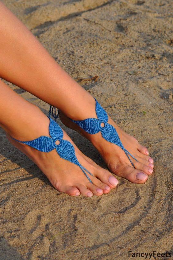 sandalias para boda en la playa