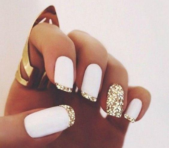 uñas blancas invierno