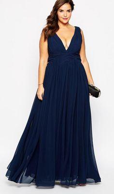 vestido con escote en v