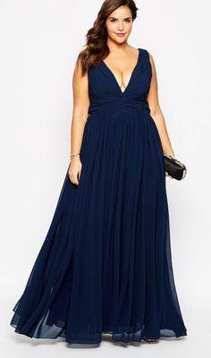 vestidos de noche para gorditas colores 3