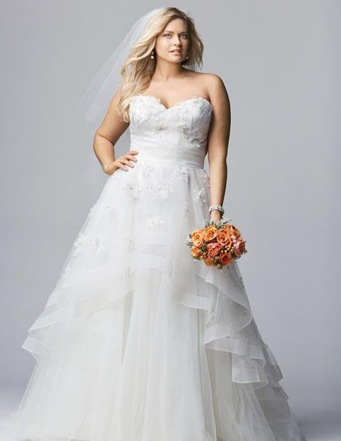 vestido de novia para gorditas en capas