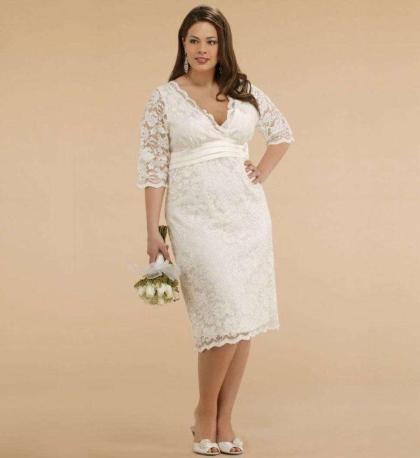 vestidos de novia cortos para gorditas
