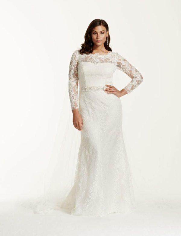 vestido de novia con mangas y encaje