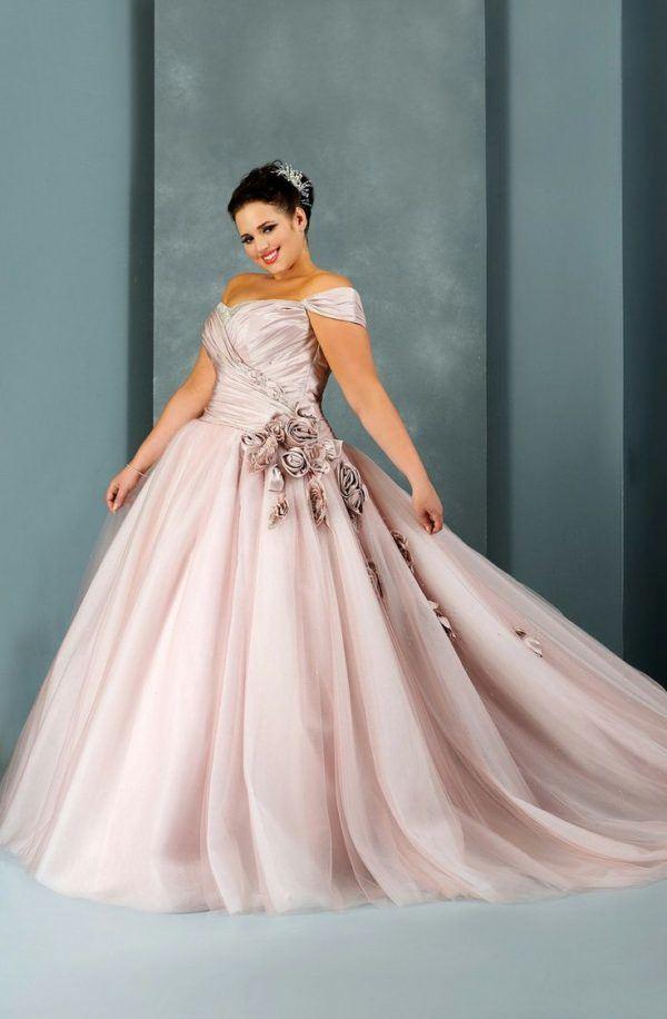 vestidos de novia para gorditas color rosa