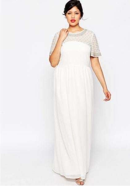 vestidos de novia para gorditas con manga francesa
