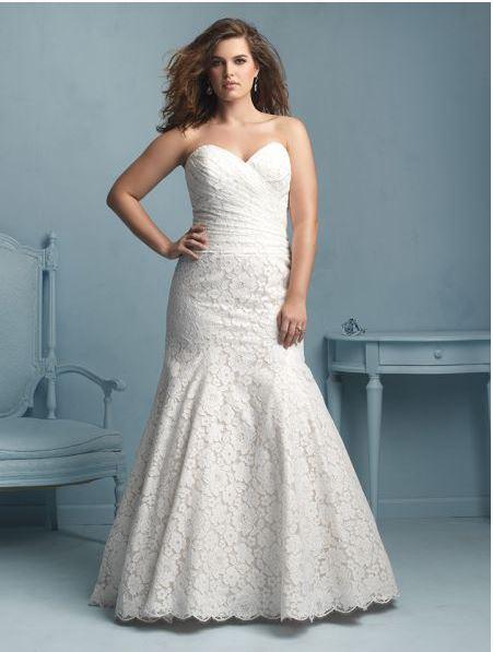 vestido de novia para gorditas tipo sirena
