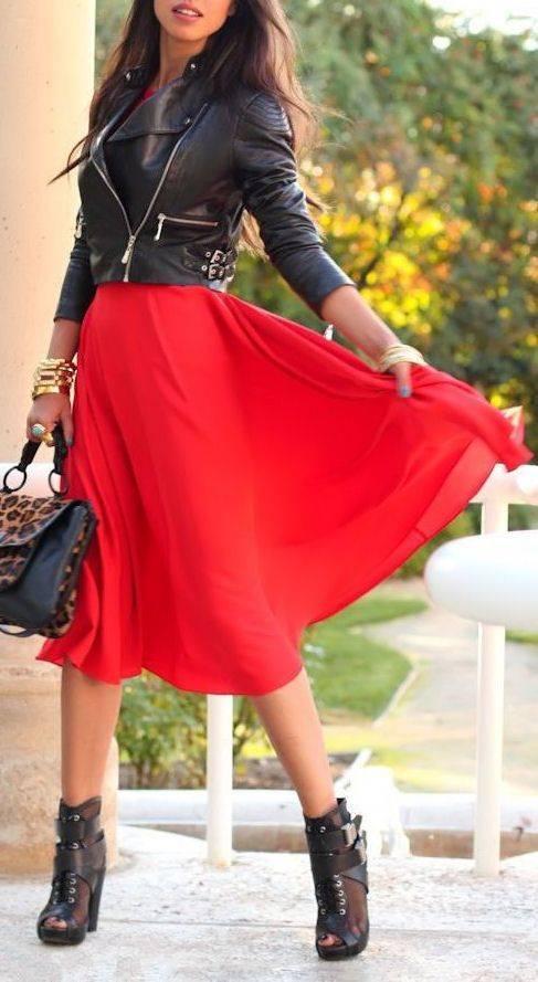 Cómo Combinar Un Vestido Rojo Maquillaje Y Complementos
