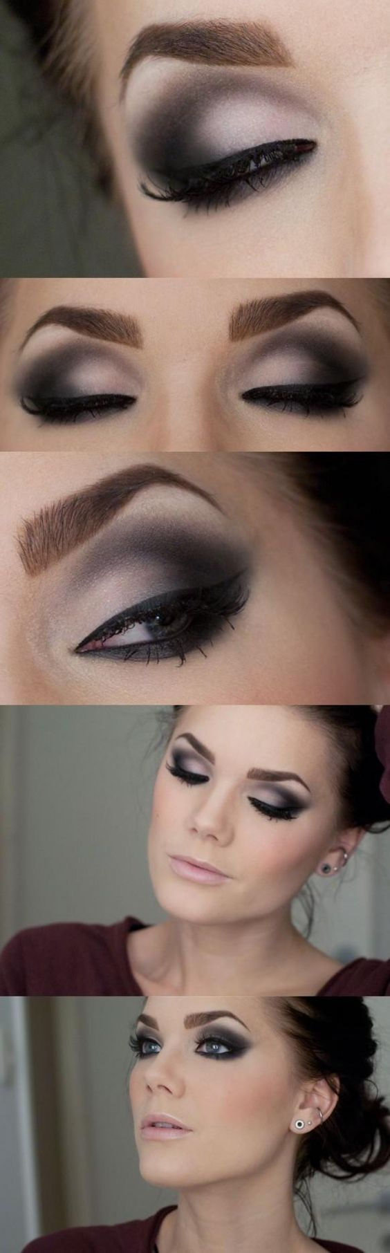 Maquillaje de noche vestido fucsia