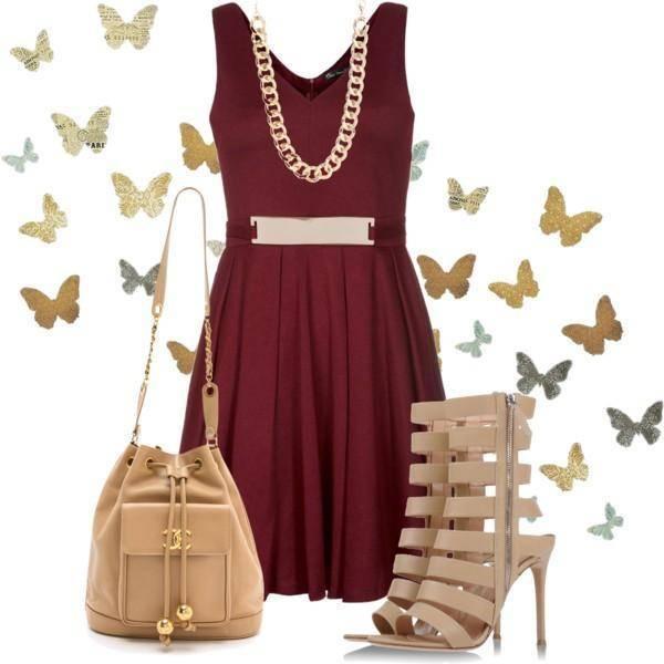 e4a339d8 Cómo combinar un vestido color burdeos 4 Outfits INCREÍBLES