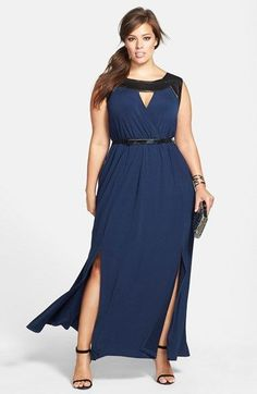 long evening dresses for chubby