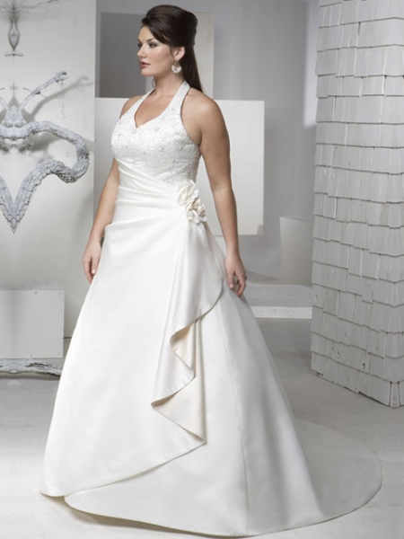wedding dresses for chubby