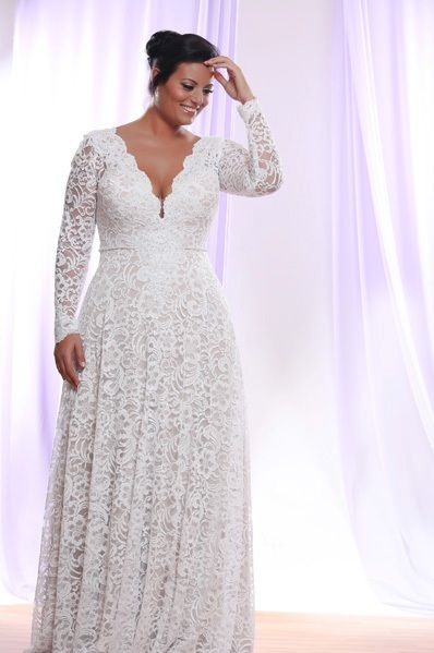 wedding dress for chubby embroidery