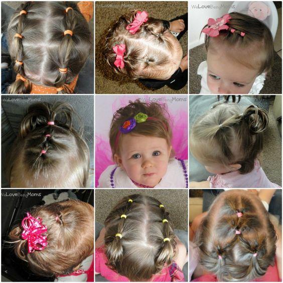 Varios peinados peinados bebe Colección De Tutoriales De Color De Pelo - 5 peinados para una bebé - Ropa-para.net